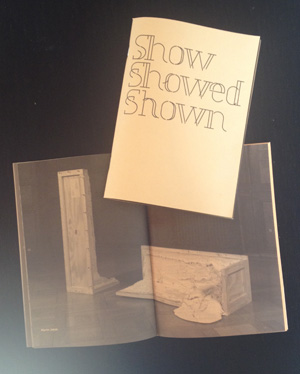 Show Showed Shown